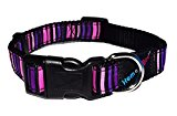 H&B Princess Stripe Dog Collar, Choose Size, (Small Collar)