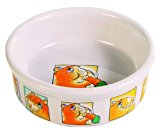 Trixie Ceramic Bowl with Motif for Guinea Pigs, 240 ml, White