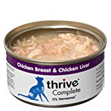 thrive Cat 100% COMPLETE - CHICKEN BREAST & CHICKEN LIVER (pack of 12)