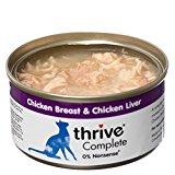 thrive Cat 100% COMPLETE - CHICKEN BREAST & CHICKEN LIVER (pack of 12)