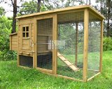 Chicken Coops Imperial® Wentworth Large Chicken Coop Hen House Ark Poultry Run Nest Box Rabbit Hutch Suitable For Up To 4 Birds - Integrated Run & Cleaning Tray & Innovative Locking Mechanism