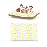 Kess InHouse Julie Hamilton Willow Wisp Yellow Gray Dog Bed by Kess InHouse