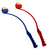 DOG BALL THROWER AND BALL (Red)