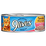 9Lives Tender Morsels With Real Salmon In Sauce Wet Cat Food Can, 5.5 Ounce, Pack Of 6