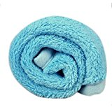 Dog Blanket - Kingwo Warm Pet Dog Puppy Cat Mat Soft Fleece Blanket Quilt Bed Cushion Pad (Blue)