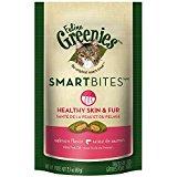 FELINE GREENIES SMARTBITES Healthy Skin and Fur Treats for Cats Salmon Flavor 2.1 oz.