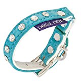 Posh Petz® Cute Velvet Diamante KITTEN Collar - Powder Blue