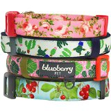 Blueberry Pet Spring Scent Inspired Floral Rose Baby Pink Basic Dog Collar, Neck 30cm-40cm, Small, Collars for Dogs, Matching Lead & Harness Available Separately