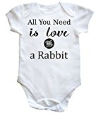 HippoWarehouse All You Need is Love and a Rabbit baby vest boys girls