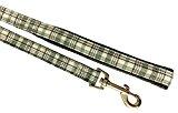 Green Tartan Dog Lead, One Size, 1m x 2cm