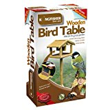 Kingfisher BF009WF Premium Bird Table with Built in Feeder - Beige