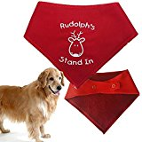Spoilt Rotten Pets Christmas Dog Bandana - Rudolph's Stand In - Medium/Large 17