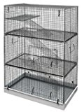 CHINCHILLA 3 TIER RAT RODENT CAGE LAZY BONES