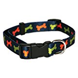Rosewod Bone Dog Collar, 10 - 14-inch