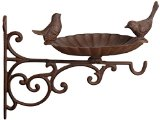 Fallen Fruits Bird Bath/Feeder with Wall Bracket - Brown