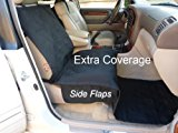 Deluxe quilted and padded single car seat cover 21Wx72L Black color by Formosa Covers