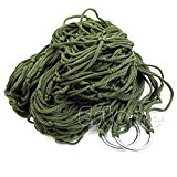 The Cheers Portable Nylon Hammock Hanging Mesh Sleeping Bed Swing Outdoor Travel Camping (Army Green)