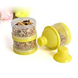 Frixie(TM) 3 Layers Gerbil Hamster Feeder Bowl Small Animal Rat Rabbit Bento Box Outdoor Food Water Storage 7*7*17cm