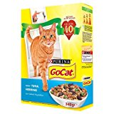 Go Cat Senior Cat Dry Food with Herring, Tuna and Vegetables, 340g
