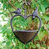 Cast Iron Hanging Heart Bird Feeder For The Garden