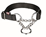 Trixie Premium Semi-Choke Dog Collar, Large/X-Large, Black
