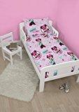 Disney Minnie Mouse Handmade 4 in 1 Junior Rotary Bedding Bundle Set (Duvet, Pillow, Covers)
