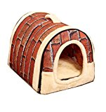 Pet House Home Sweet Home Bed for Dogs, Cats, Puppies, and Rabbits (L)
