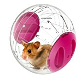 Emours Run-About Mini 4.8 inch Small Animal Hamster Run Exercise Ball (pink)
