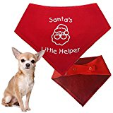 Spoilt Rotten Pets Christmas Dog Bandana - Santa's Little Helper - Great Xmas Gift For Dogs - Four Sizes Available (Tiny Dog 6