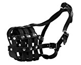 Dean & Tyler English Bulldog Leather Basket Muzzle, Size Eb1