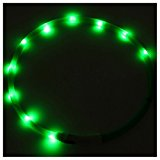LED Flashing Light Dog Collar - SODIAL(R) Waterproof Rechargeable USB LED Flashing Light Band Belt Safety Pet Dog Collar green
