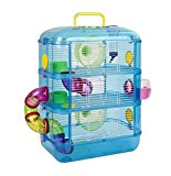 XPet Hamster & Gerbil 3 Storey Tier Blue Cage With Tubes