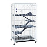 Little Friends Blenheim Extra Tall Rat Cage with Accessories, 140 cm, White