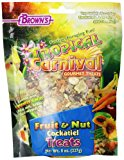 F.M. Brown's Tropical Carnival Fruit and Nut Cockatiel Conure and Lovebird Pet Treat, 8-Ounce