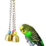 Bird Chew Toy Bells for Parrot Macaw African Greys Budgies Cockatoo Parakeet Cockatiels Conure Lovebird Finch Cage Toy