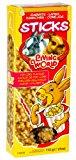 Living World Rabbit Popcorn Stick Treats, Pack of 4