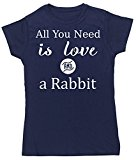 HippoWarehouse All You Need is Love and a Rabbit womens fitted short sleeve t-shirt