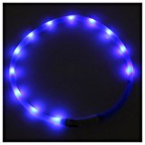 LED Flashing Light Dog Collar - SODIAL(R) Waterproof Rechargeable USB LED Flashing Light Band Belt Safety Pet Dog Collar blue
