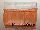 Bird Cage Tidy Seed Catcher Skirt Guard Pile Fabric Double Strap - Orange - Medium - 140cm