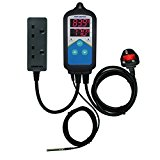 Inkbird ITC-306UK Dual Relays Plug Digital Temperature Controller Heating Thermostat(No Cooling) 24 Hours Day & Night Cycle Timer,3 Pins UK Socket