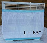 Bird Cage Tidy Seed Catcher Skirt Guard Pile Fabric Double Strap - White - Large