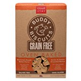 Cloud Star Grain Free Oven Baked Buddy Biscuits Dog Treats, Homestyle Peanut Butter, 14-Ounce