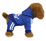 YAAGLE Pet Warm Sweater Hoodie Coat Sweatshirt Clothes Costume Apparel for Dog Puppy Cat,Blue,L