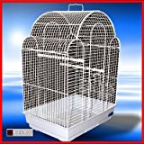 JINGLES BIRD CAGE IN WHITE SUITABLE FOR LOVEBIRDS, FINCH ,CANARY,PARAKEET SIZE BIRDS