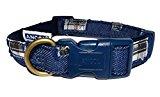 Blue Denim Dog Collar, Choose Size, (Medium Collar)