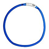 Ancol USB Flashing Band for Dog, 60 cm, Blue
