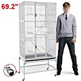 Popamazing Iron Parrot Cage Large Bird Play House 69 inches Height