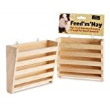 Small 'N' Furry Feed 'M' Hay Dye Free Wooden Hanging Feeding Trough for Small Animals, Large X 2 pack