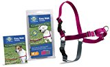Premier Dog Nylon EASY WALK HARNESS Reduce Pulling Medium Raspberry & Gray