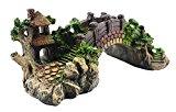 DreamHouseuk Fish Tank Landscape Decoration Rock Turtle Steps Island Shelter Hide Refuge